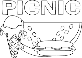 coloring pages summer picnic kids girls coloring point