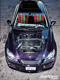 purple lexus 2006 lexus is 250 import tuner magazine