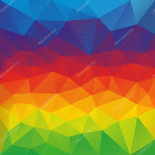 Color Spectrum Vector Abstract Irregular Polygon Background With A Triangular