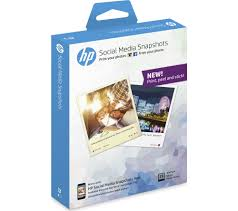 hp social media snapshots removable sticky 100 x 130 mm photo