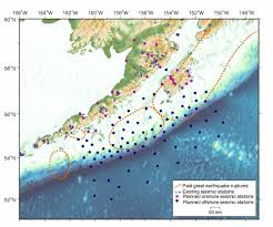 Earthquake Map Seattle by Land Sea Experiment Will Track Earthquakes Volcanoes Along Alaska
