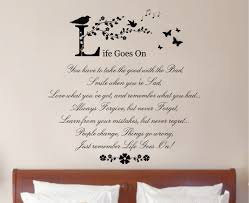 life goes on quote vinyl wall art stickers decal mural quotes