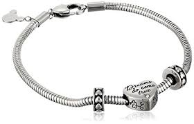 beads charm bracelet images Disney stainless steel heart bead charm 2 stoppers jpg