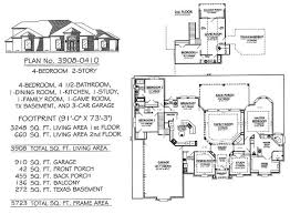 Game Room Floor Plans 4 Bedroom 2 Story 3601 4500 Square Feet