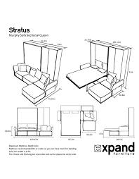 murphysofa stratus queen sectional sofa set expand furniture