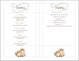 editable menu templates free thanksgiving menu template serive menu