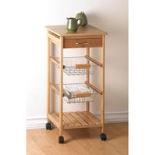 rolling kitchen cart on wheels storage shelf drawer pullout