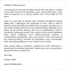ideas of example of excellent recommendation letter for letter