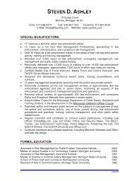 Security Officer Resume Cover Letter Criminal Justice Resume