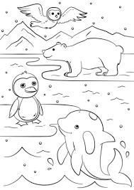winter animals coloring pages cecilymae