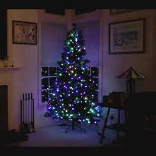 white christmas tree with multicolor lights mr light christmas christmas trees 7 5 ft prelit