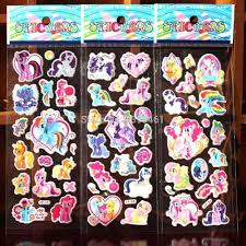 100 sheetsmy little pony kids stickers classic baby diy toys 3d see larger image