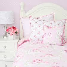 bedroom pink shabby chic bedding carpet table lamps lamp bases