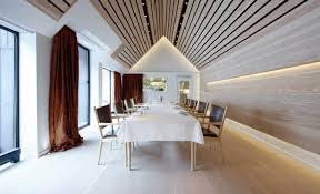 interior wood slat ceiling u2014 l shaped and ceiling having a wood