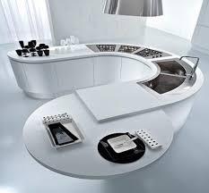 curved kitchen island curved kitchen island ideas for modern homes homesfeed