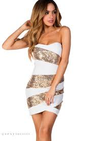 gold party dress white and gold sequin strapless cocktail party dress