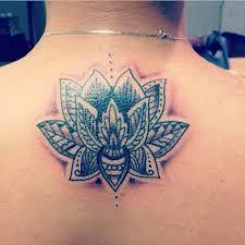 my lotus flower henna inspired tattoo tattoos pinterest