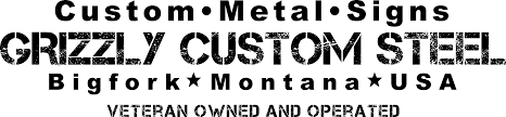 custom metal signs and plasma cut metal art grizzly custom steel