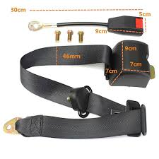 3 point retractable car seat lap belt buckle extender strap safety