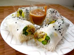 rice paper wrap summer rice paper rolls with peanut sauce the tray chic