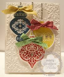 merry and bright ornament card stin by genny s