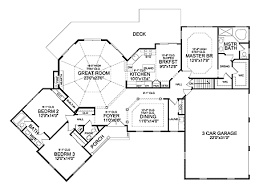 winston 3 car 5241 3 bedrooms and 2 baths the house designers