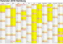 Kalender 2018 Hamburg Excel Kalender 2018 Hamburg Ausdrucken Ferien Feiertage Excel Pdf