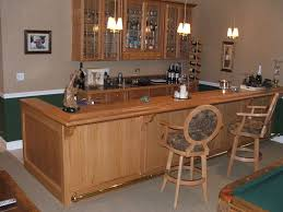 Modern Home Bar Furniture by Stylish Custom Handmade Wooden Bar Table With Classic Backest Bar