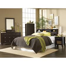 4 Piece Bedroom Furniture Sets Sauder Shoal Creek Full Queen Bookcase Headboard Jamocha