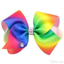 ribbon bows 12cm rainbow hair bows with clip boutique large ribbon bow jojo