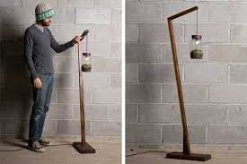 wood floor lamp base