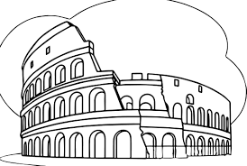 roman colosseum italy wonders world coloring page wecoloringpage