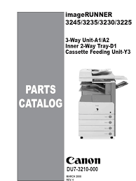 canon ir3245 3235 3230 3225 parts catalog