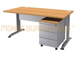 bureau droit bureau droit t line l 160cm avec caisson 3tm