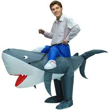 funny halloween costume airsuits inflatable shark costume