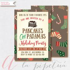 christmas brunch invitation wording christmas invitation pancakes and pajamas invitation christmas