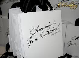 wedding guest bags set of 30 white personalized out of town wedding welcome bag with