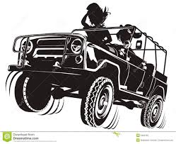 4 door jeep drawing vector jeep detailed silhouette stock vector image 5484783