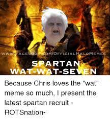 Sparta Meme - nwofficialhalomnemes sparta wat wat semen because chris loves the