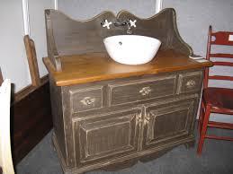 vanité chambre de bain antiquité et cuisine antique chêtre rustique classique sur