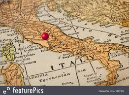Itsly Map Rome And Italy Vintage Map Picture