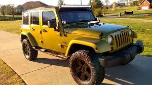 yellow jeep 4 door 2008 jeep wrangler jk unlimited for sale
