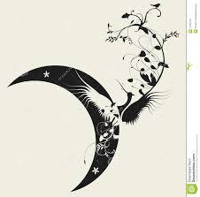 bird and moon design stock vector illustration of card 11455762
