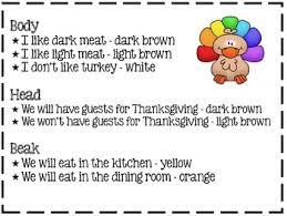 turkey glyph freebie by ms third grade teachers pay teachers