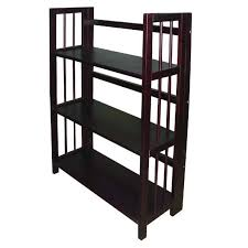 4 Sided Bookshelf 3 Tier Stackable Folding Bookcase Hayneedle