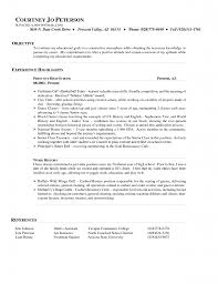 resume for hostess resume for your job application