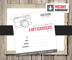 photography gift certificate template gold floral baby birth