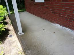 foundation how can i patch a concrete porch that separated from