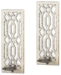 Farmhouse Wall Sconce Koehler 10017331 Pair Of Deco Mirror Wall Sconce Set Farmhouse