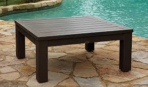 Driftwood Outdoor Furniture by Anacara Mariner Aluminum Hunt Rectangular Dining Table Faux Wood
